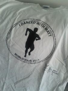 Mi camiseta que acredita que bailé con Matt
